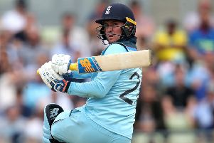 England's Jason Roy smacked three sixes in a row as Australia were hammered (PIcture: PA)