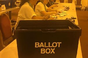 The votes being counted in Standish