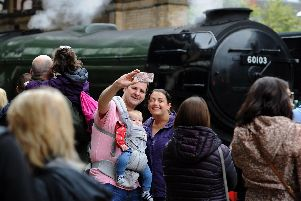 The Flying Scotsman comes to Preston