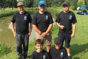 The five Selston anglers who were crowned national champions.
