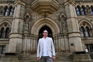 David Wilson, director of Bradford UNESCO City of Film, outside City Hall. Picture by Jonathan Gawthorpe.