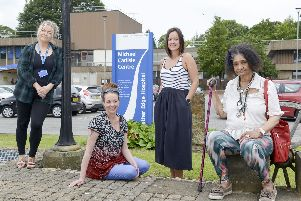 Sandra Perry, right, has been supported by the CERT team and LivingWell partnership. Also pictured are Emma Carr and Debbie Creaser of the Sheffield team and Charlotte Murray from South Yorkshire Housing Association.