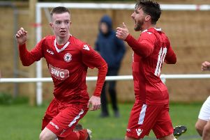 Paul Turner scored Longridge Town's first goal of the season