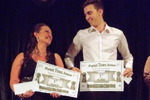 Joint first place went tovocalists Alison Morley and Jordan Gaynor, who wowed the judges and walked away with 400 each.
