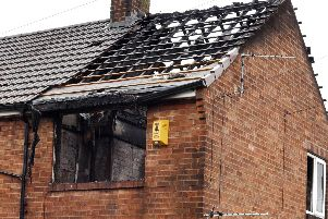 This flat was destroyed by a blaze overnight