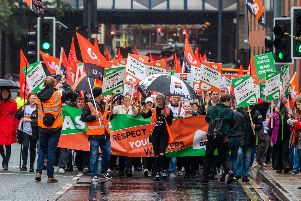 The GMB union organised the protest.