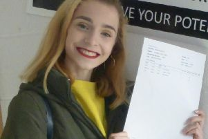 Isabella Clare celebrates her outstanding results.