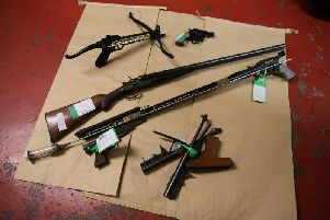 Some of the weapons handed into Nottinghamshire Police.