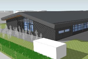 An artist's impression of the new design and technology building being built at Lytham St Annes Technology and Performing Arts College
