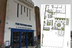 The pub with the plans for the beer garden.
