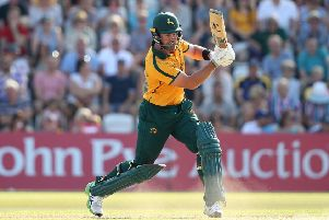 Skipper Dan Christian on his way to vital runs for Nottinghamshire Outlaws on Sunday. (PHOTO BY: Jan Kruger/Getty Images)