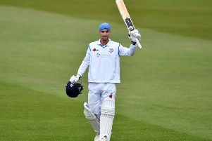 South African Leus du Plooy, who has made a big impact at Derbyshire.