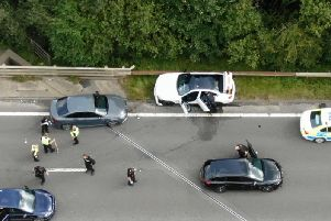 Drone footage from the A38