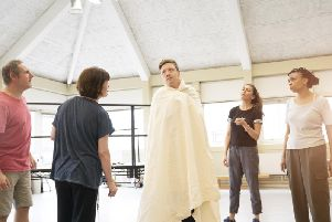 Rehearsals for the stage adaptation of Matt Haigs Reasons to Stay Alive, directed by Jonathan Watkins.