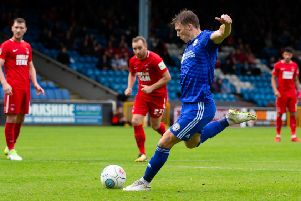 Actions from Halifax Town v Leyton Orient, at The Shay. Dayle Southwell