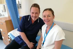 Steve Riley and Jeanette Barnard are hoping that digital monitoring of patients' conditions could make consultations more effective