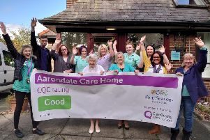 Aarondale Care Home in Coppull, Chorley, has been rated Good by the Care Quality Commission (Image: MHPC/Four Seasons Health Care)