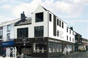 An architect's view of how the Uptown Pony Club in Friargate will eventually look.