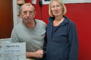 John and Ann Stone, owners of Fit Pit gym.