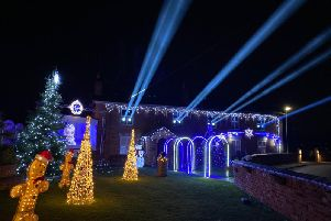 The music and light show created by Craig Lewis at his home at Cootage Farm, in Parr Lane, Eccleston