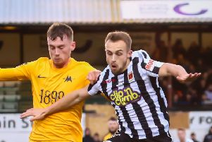 Loan striker Charles Vernam has been recalled by Grimsby Town (photo: Stefan Willoughby)