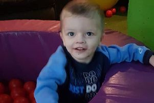 Keigan Ronnie OBrien, aged two, tragically died in hospital yesterday (Photo: SYP)