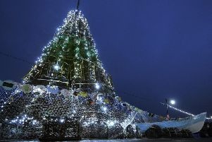 The Fishtive Tree at Coble Landing will be lit at 4.30pm on Saturday