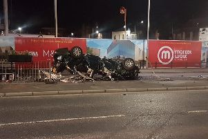 The crash happened in Clifford Street, Chorley, close to the new Market Walk development.