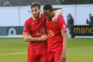 Who stood out for Hartlepool United at Boreham Wood?