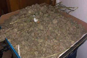 Police raided a home in Preston Road, Clayton-le-Woods near Chorley on Saturday, February 16 and seized 50,000 in cannabis and equipment.