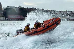 Scarborough RNLIs inshore lifeboat was launched yesterday to aid the search for a missing person.