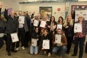 Lancashire User Forum members who have completed the speaker boot camp
