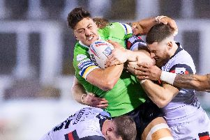 Anthony Gelling in action for Widnes. SWPix