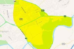 The police Section 60 area in place in Preston
