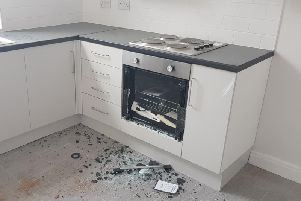 Ovens have also been smashed during the attack.