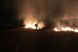 Moorland blaze on Winter Hill tonight. Pic credit: Shaun Walton