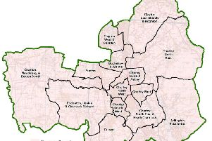 The new political map of Chorley (Credit: contains Ordnance Survey data (c) Crown copyright and database rights 2019)