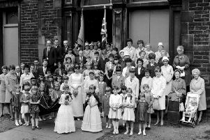 A photograph taken from the Burnley Civic Trust image website. Stoneyholme Methodist Church hosts it finals service in 1967.