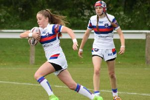 Saskia Lewis made history for Wakefield Trinity Ladies on Sunday. PIC: Mike Robey Photography.