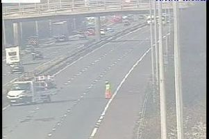 Pothole repairs on M6 southbound between J28 Charnock Richard and J27 Standish and Parbold causing major tailbacks
