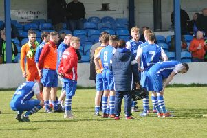 Pontefract Collieries players at full-time.