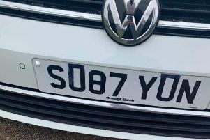 The attempt to alter the number plate on Tom Lane's stolen car