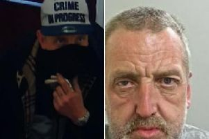 The two men are wanted in connection with a burglary at Chorley Little Theatre on Thursday, May 23.