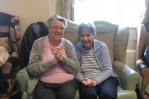 Pam Francis (right) with her wife Jeannie Stirling