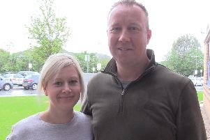 Dawn and Alan Towart outside the Royal Preston Hospital, where Alan is receiving care for motor neurone disease