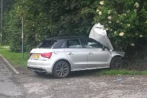 A woman in her early 30s has been taken to hospital with serious injuries after crashing into a tree in The Common, Adlington (June 24)