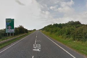 A man has died after a serious crash between a car and a lorry in North Yorkshire. Photo: Google.