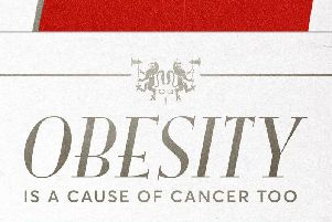 Cancer Research UK's obesity campaign poster