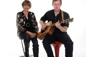 Singing surgeon Mr Rob Hart with Barbara performing as New Venture Duo