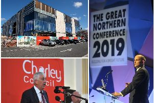 Sir Lindsay Hoyle MP (bottom) has praised the decision and comments from the Governments Minister for the Northern Power House, Jake Berry MP (right). The extra funding would help keep improving Chorley alongside the Market Walk development (top)
